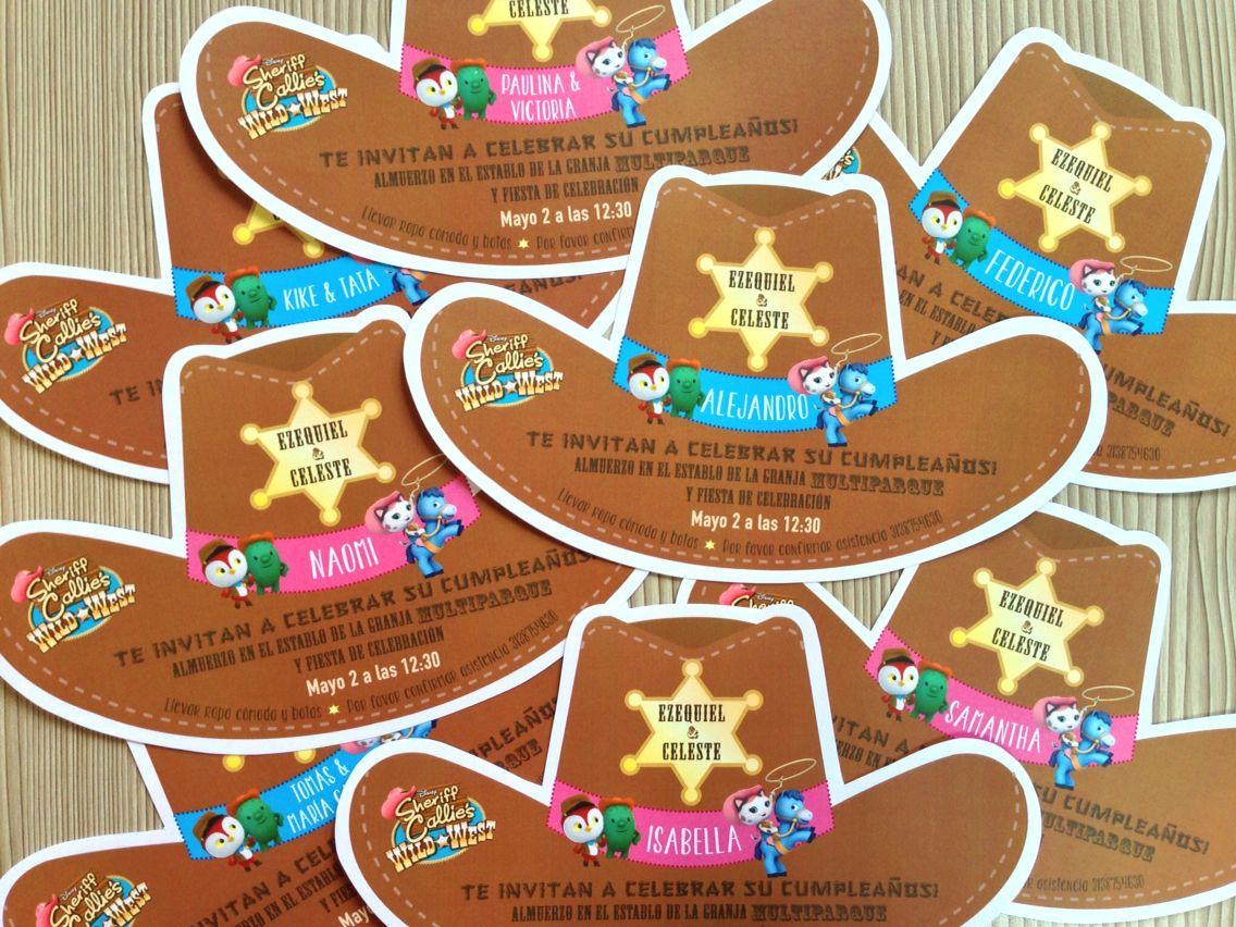 Sheriff Callie Invitations Fiesta Vaquera Fiesta Infantil