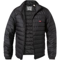 Levi's® Herren Daunen Jacke, Mikrofaser wasserabweisend, schwarz Levi's