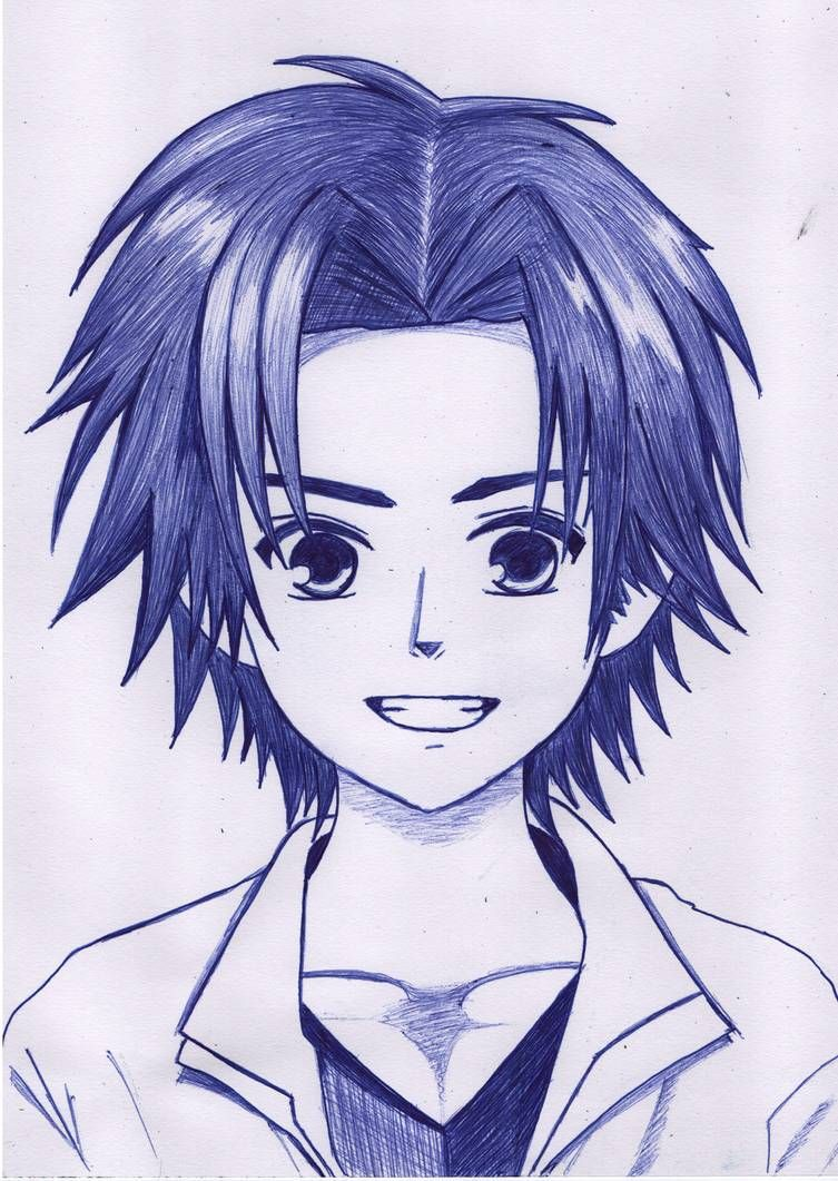 How To Draw Anime Boy Using Only One Pen Anime Drawing Tutorial For Beginners In 2020 Anime Drawing Styles Anime Drawings Tutorials Anime