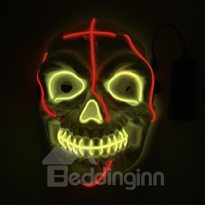 Clubbing Light Up Stitches Led Mask Costume Halloween Rave Cosplay Party Xmas Cool Halloween Masks Halloween Masks