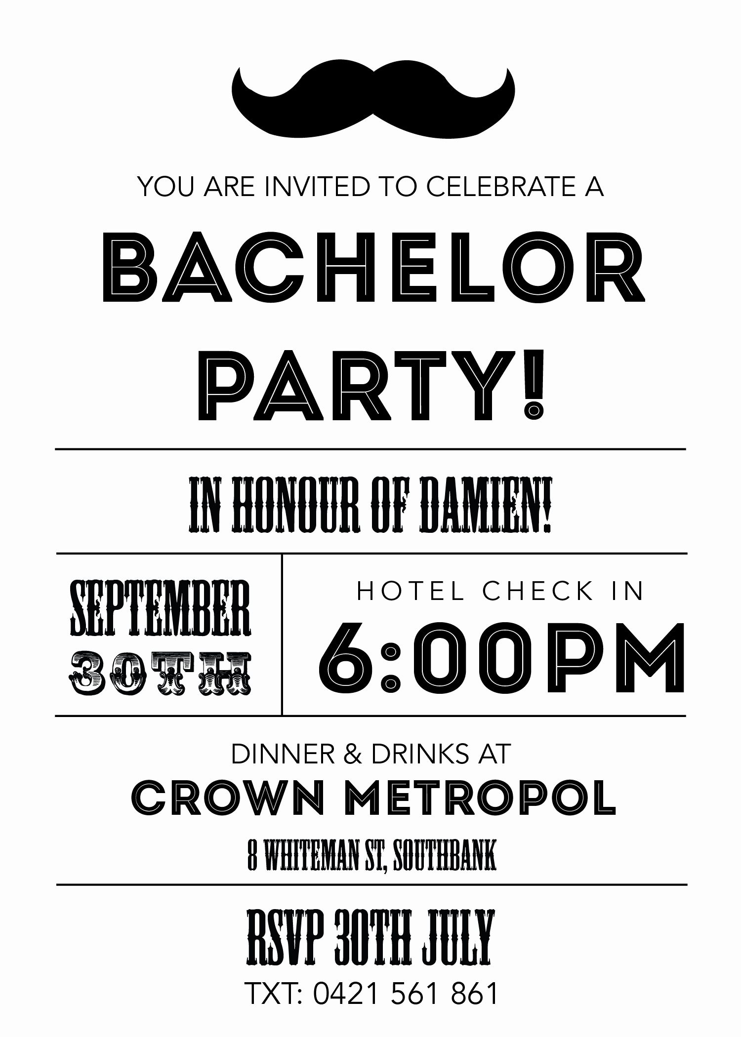 Bachelor Party Invite Template Fresh Bachelor Party Invitations