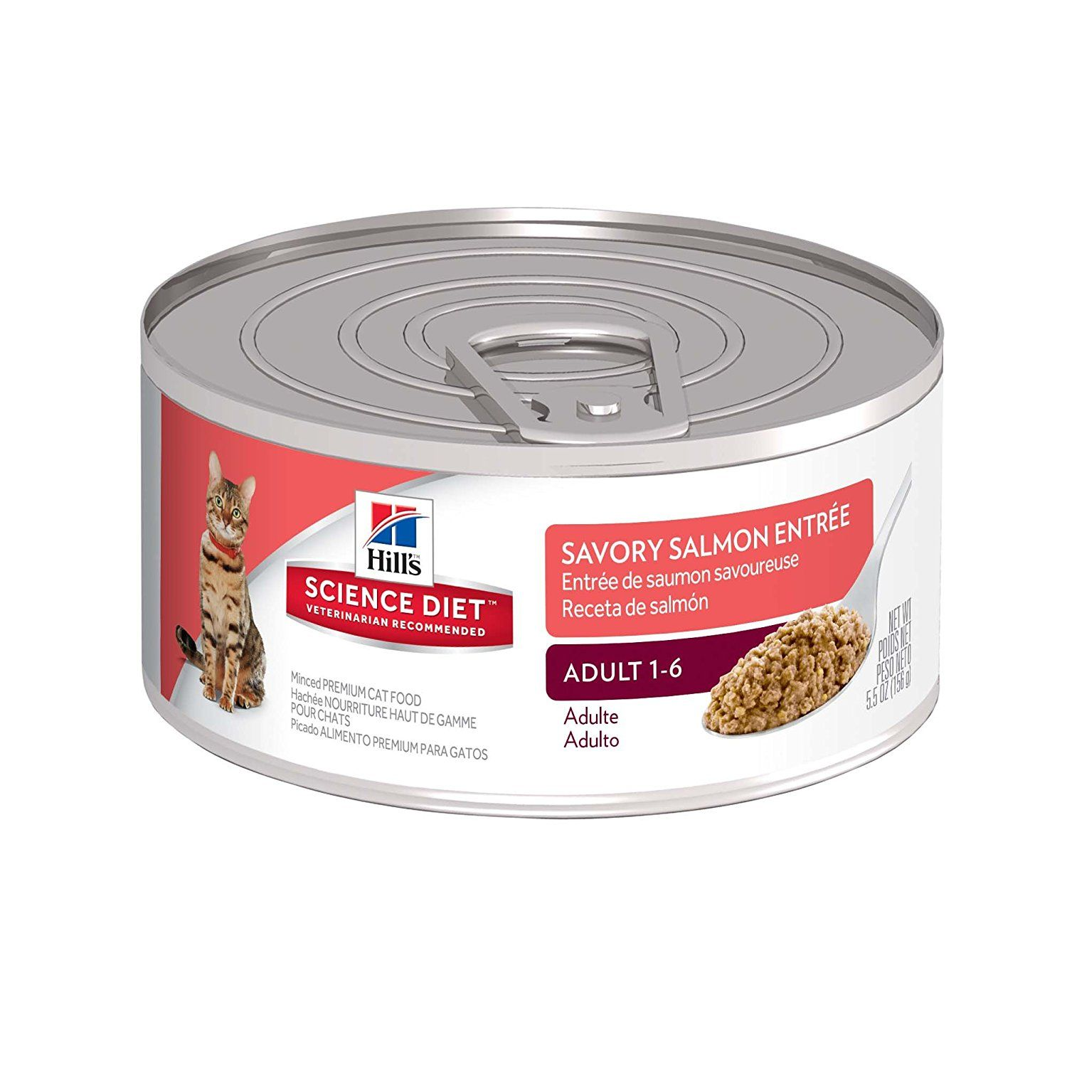Hills science diet adult minced canned cat food 24pack
