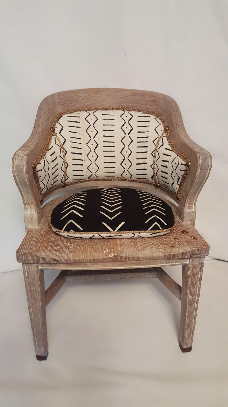 cerused oak mud cloth accent chair in 2019 ethnic prints warm rh pinterest com