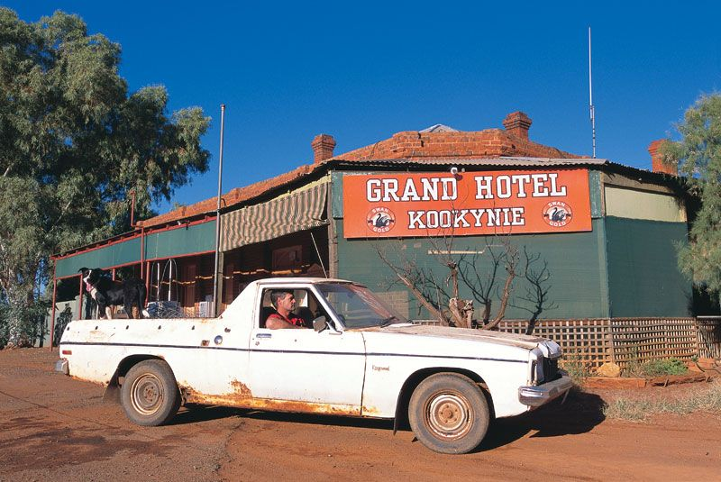 Welcome to Kookynie - population 12.  It might look like a ghost town, with the empty streets and derelict buildings, but the town's history is faithfully preserved by Kevin and Margaret Pusey, owners of the Grand Hotel.  Kevin and Margaret Pusey have restored the old shops in Kookynie and collected hundreds of relics and photographs from the town's past.