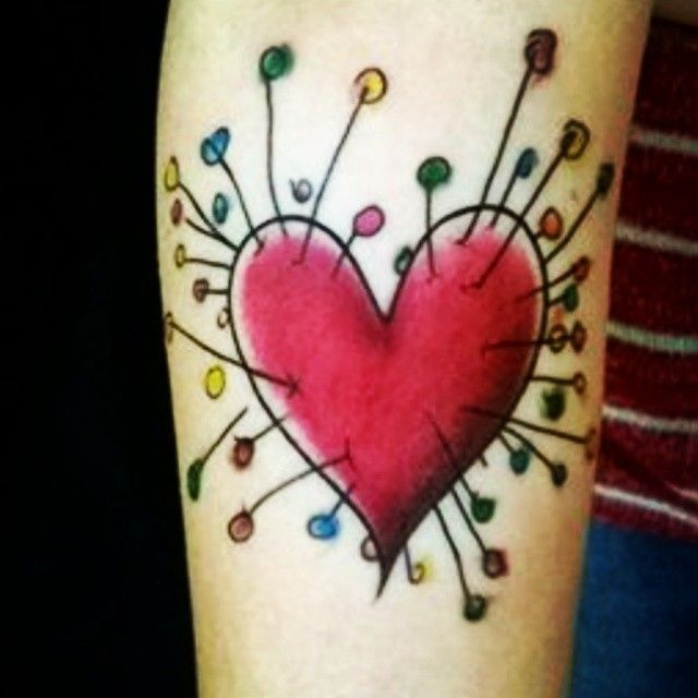 Tim Burton Tattoo Heart