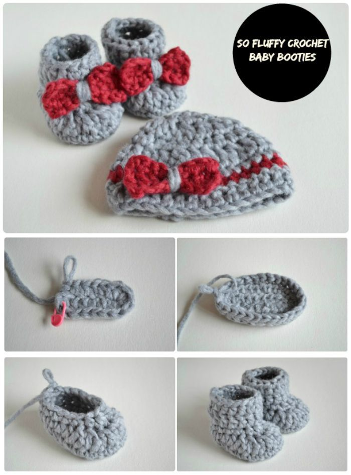 17 Free Crochet Baby Booties Pattern / Crochet Baby Shoes - Page 4 ...