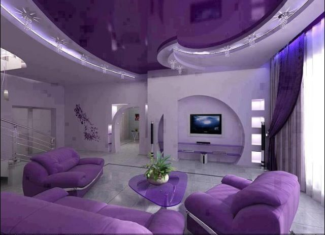 Epic purple living room Rooms Pinterest