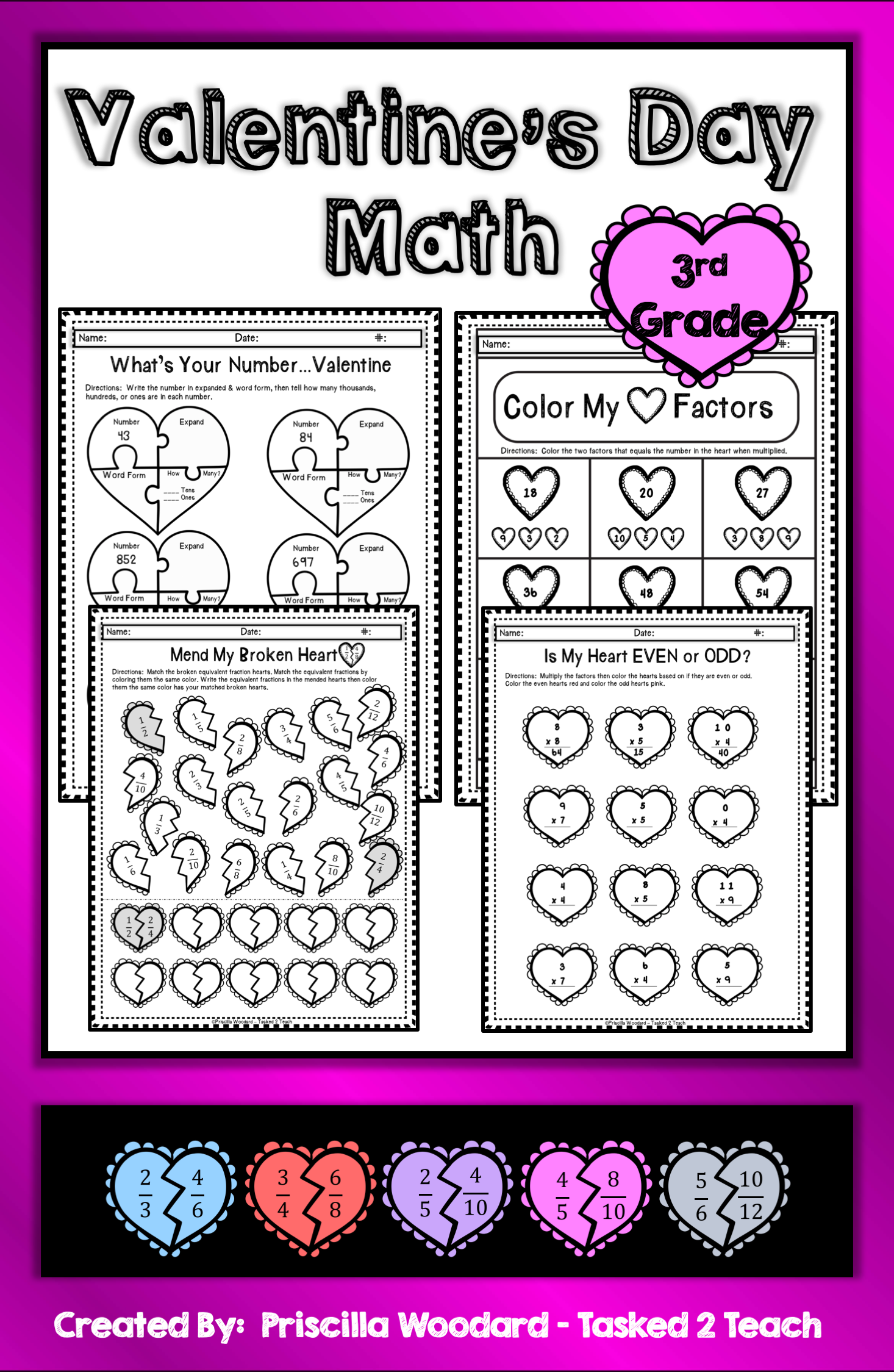 3rd Grade Valentine S Day Math Worksheets