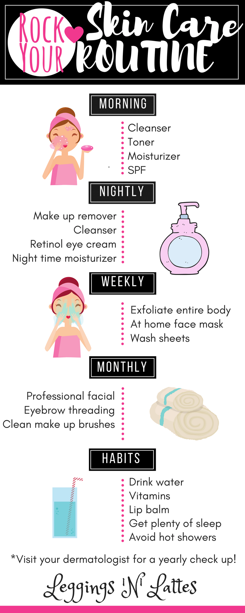 Rock Your Skin Care Routine, skin care, beauty  Beauty tips for