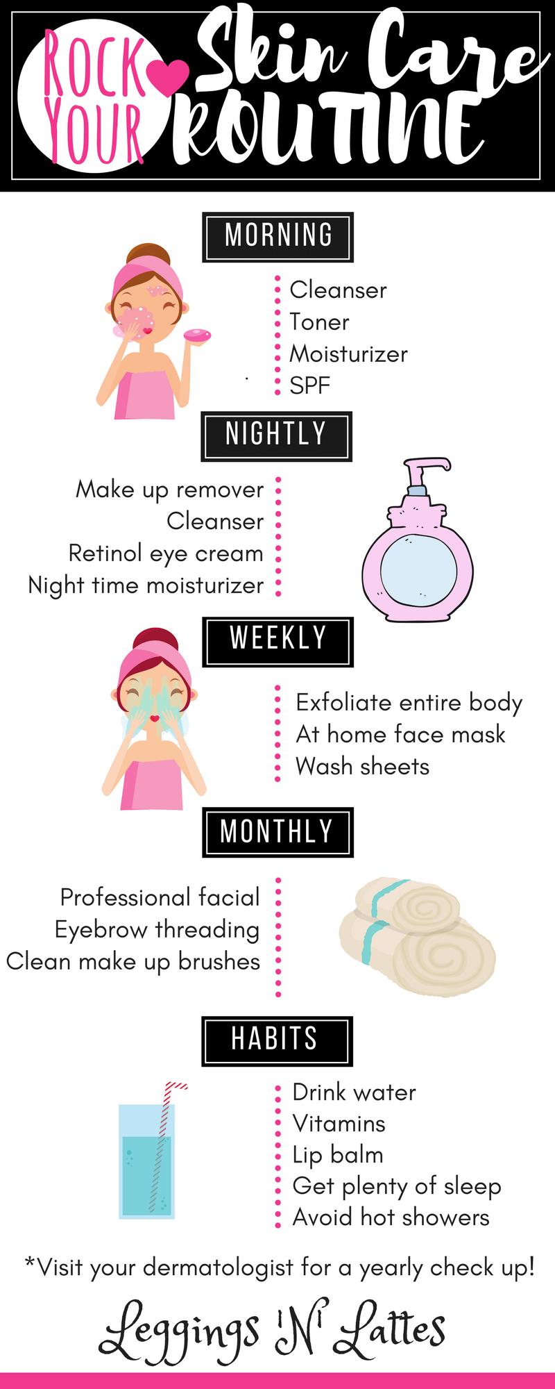 Home facial routine