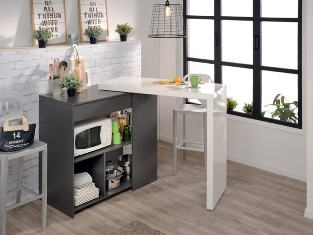 Meubler Un Studio 10 Meubles Malins Pour Gagner De La Place Eat In Kitchen Table Kitchen Table Settings Furniture Trends