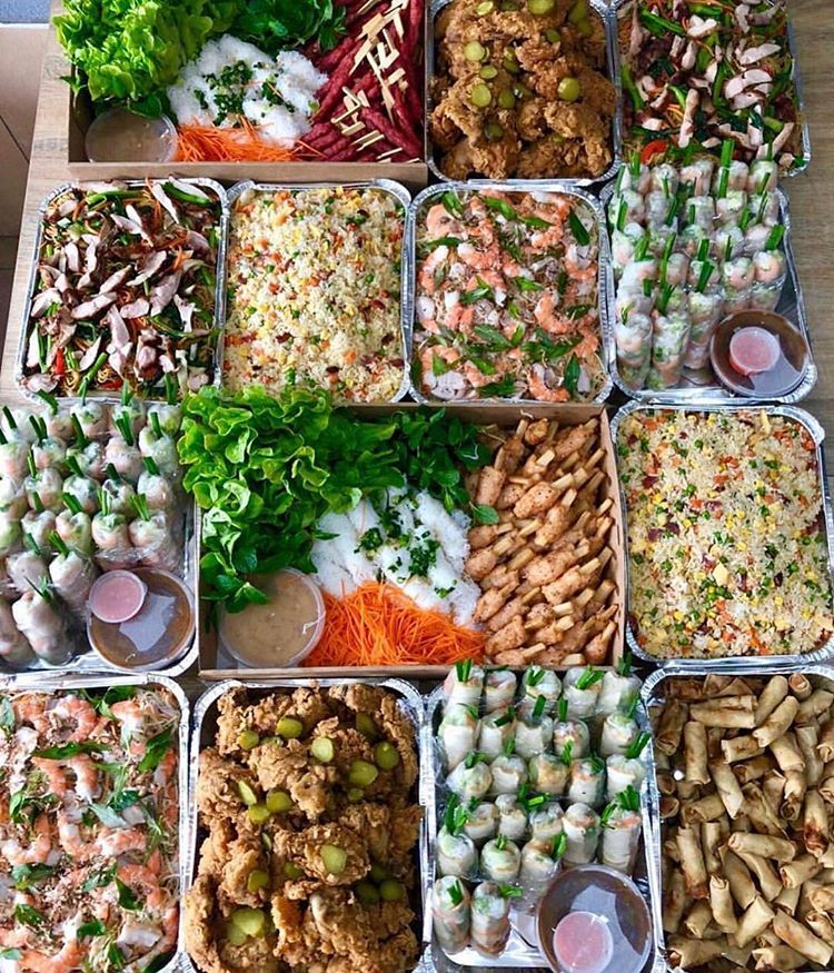Asian Wedding Food Caterers: Vietnamese Catering Goals 📷 @lyndascatering
