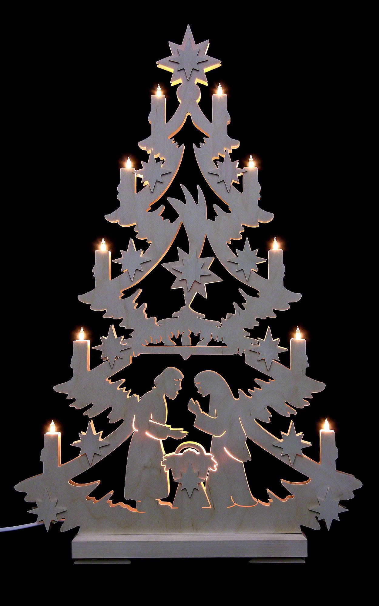 traditionelle lichterspitze christbaum deutsche. Black Bedroom Furniture Sets. Home Design Ideas