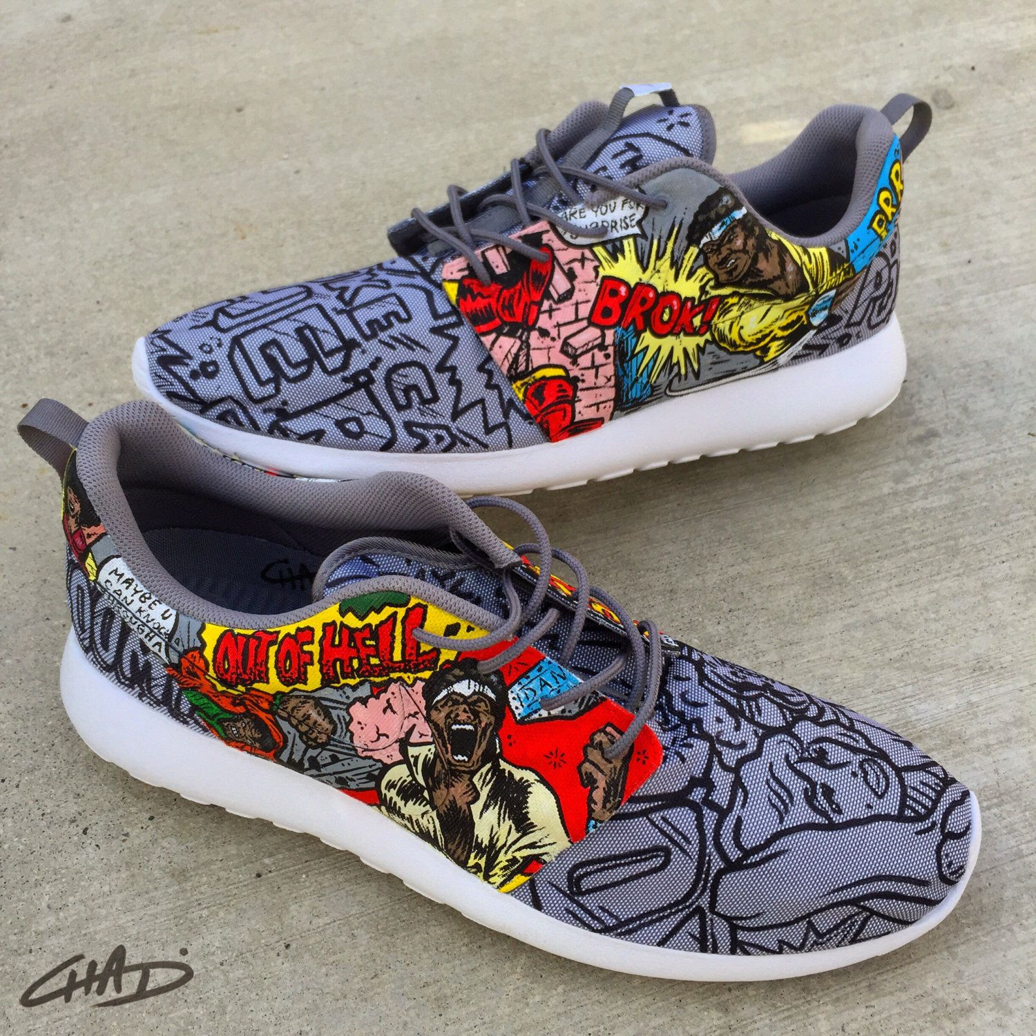2460ad8a36837 ... good hero for hire luke cage custom hand painted nike roshe shoes by  artofthesole on etsy