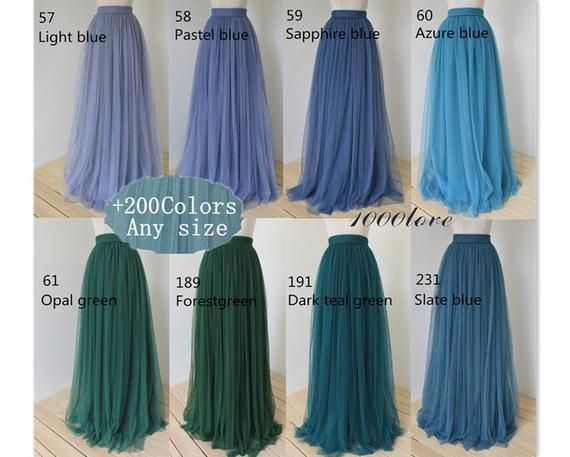 Photo of Floor length tulle skirt,bridesmaid dress wedding dress photo shoot skirt,any size any length tulle