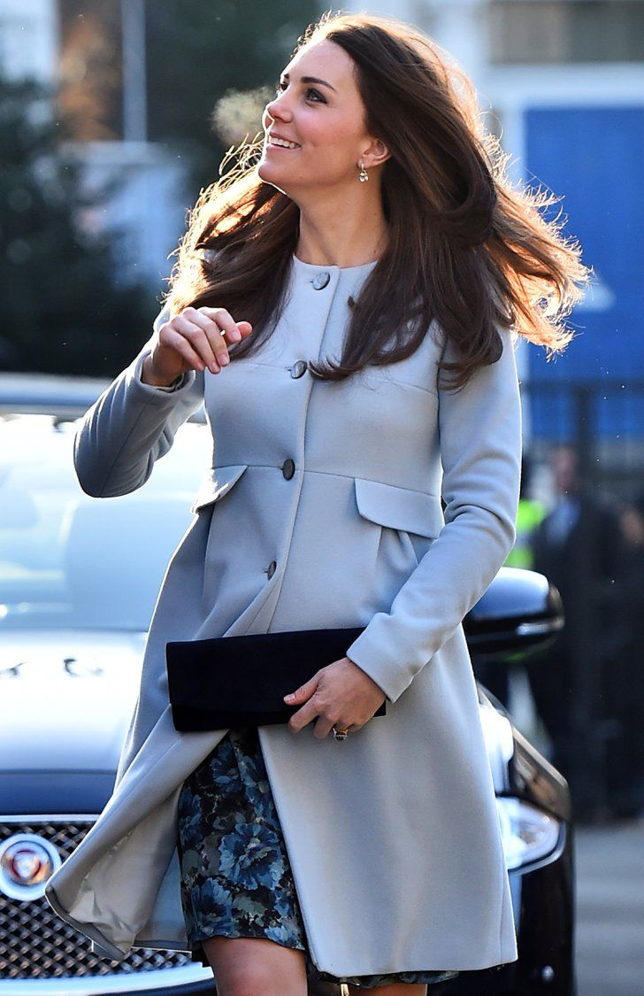 Pin for Later: The Duchess of Cambridge Is Back Out and Showing Off Her Bump