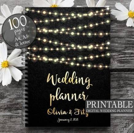 New Wedding Planning Binder Cover Ideas | Wedding planner printables, Wedding planner binder ...