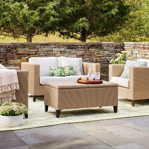 Incroyable Fullerton 4 Piece Wicker Patio Furniture Set   Threshold™ : Target
