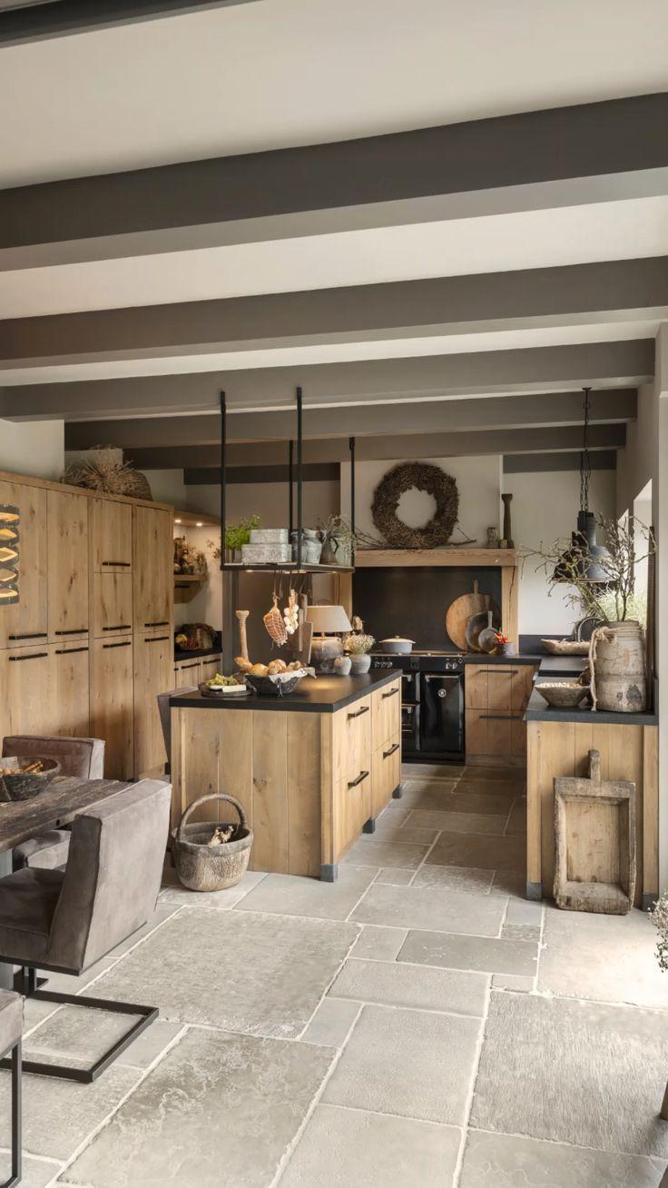 Cocina familiar de roble resistente Check more at https://pared.piezoelektrik.com/cocina-fami...