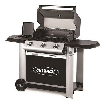 Outback Magnum 3 Burner Hooded Gas Bbq Gas Barbecue Grill Gas