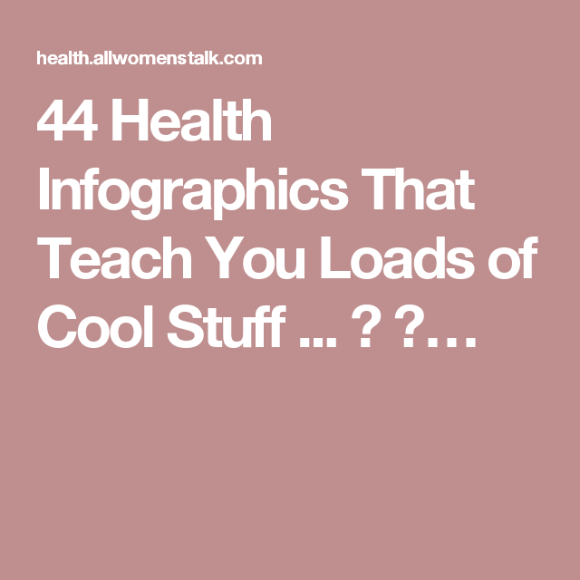 44 Health Infographics That Teach You Loads of Cool Stuff ... → 💊…