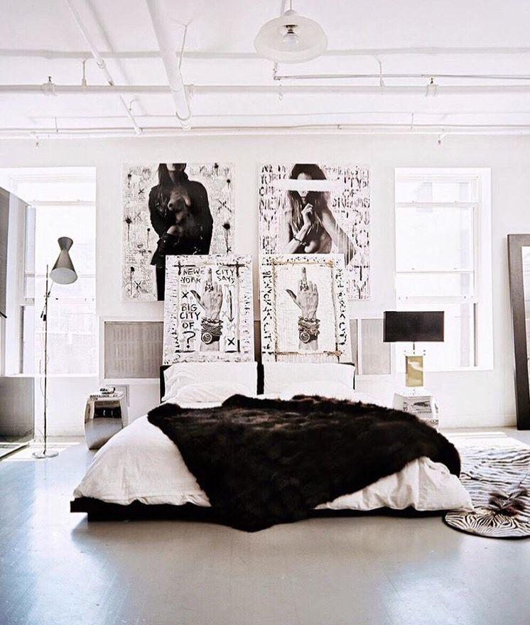 Mono Chrome Idea Home Decor Loft Style Bedroom Home Decor