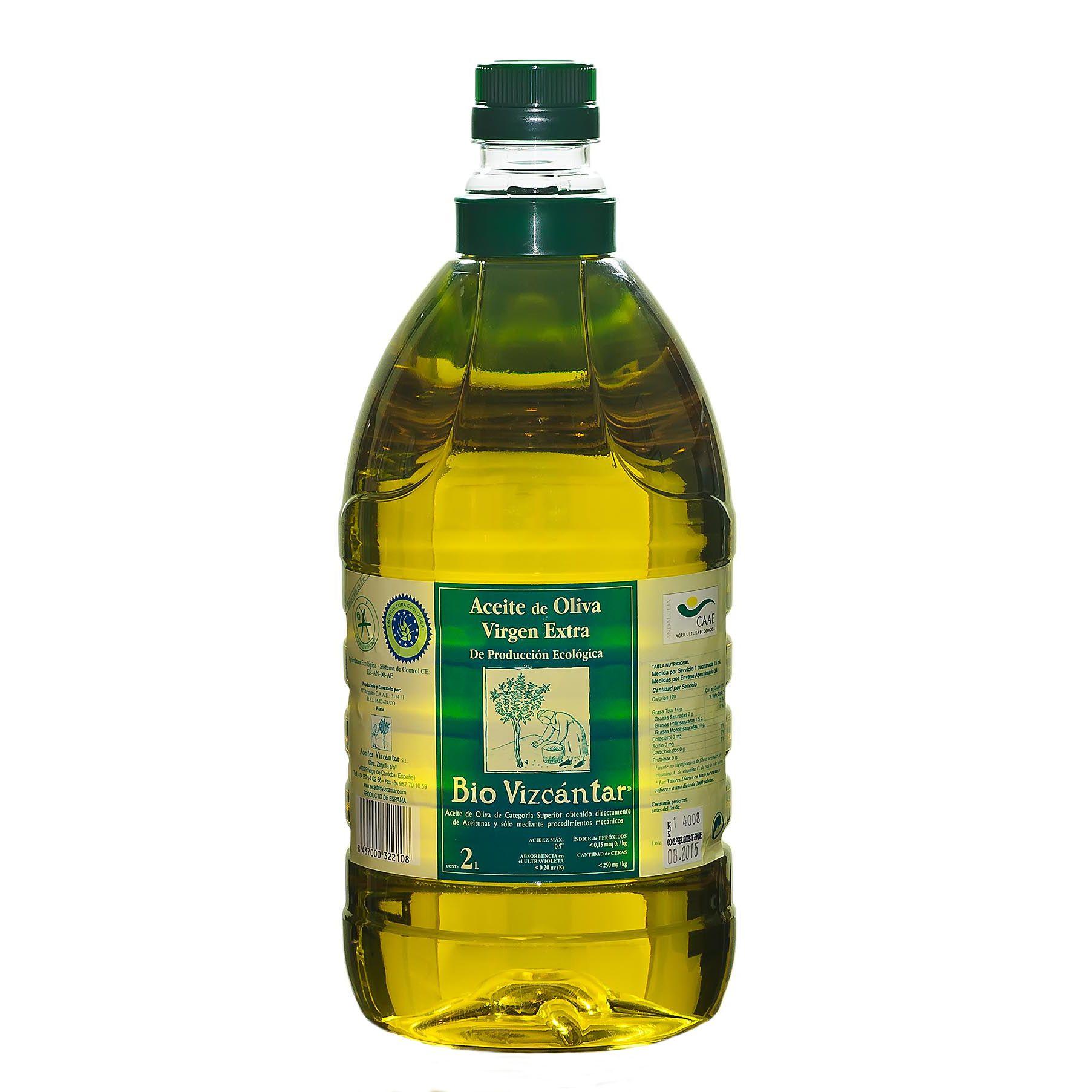 Aceite de oliva de producción ecológica. Bio Vizcántar elaborado en Priego de Córdoba, subbética andaluza. Cómpralo en www.olivadelsur.com