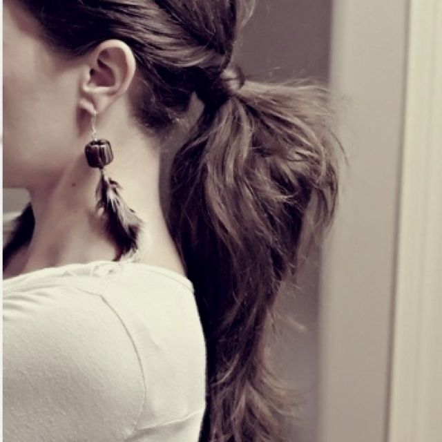 Twisted ponytail <3