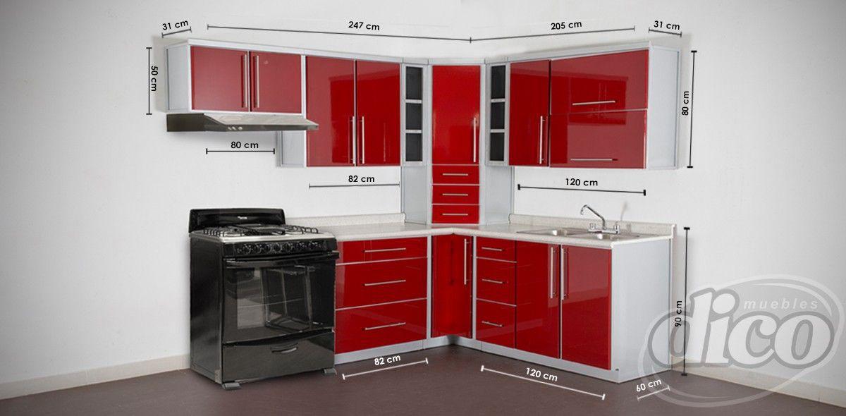 Osaka Rojo Cocina por Modulos - Cocina | Muebles Villas del Real ...