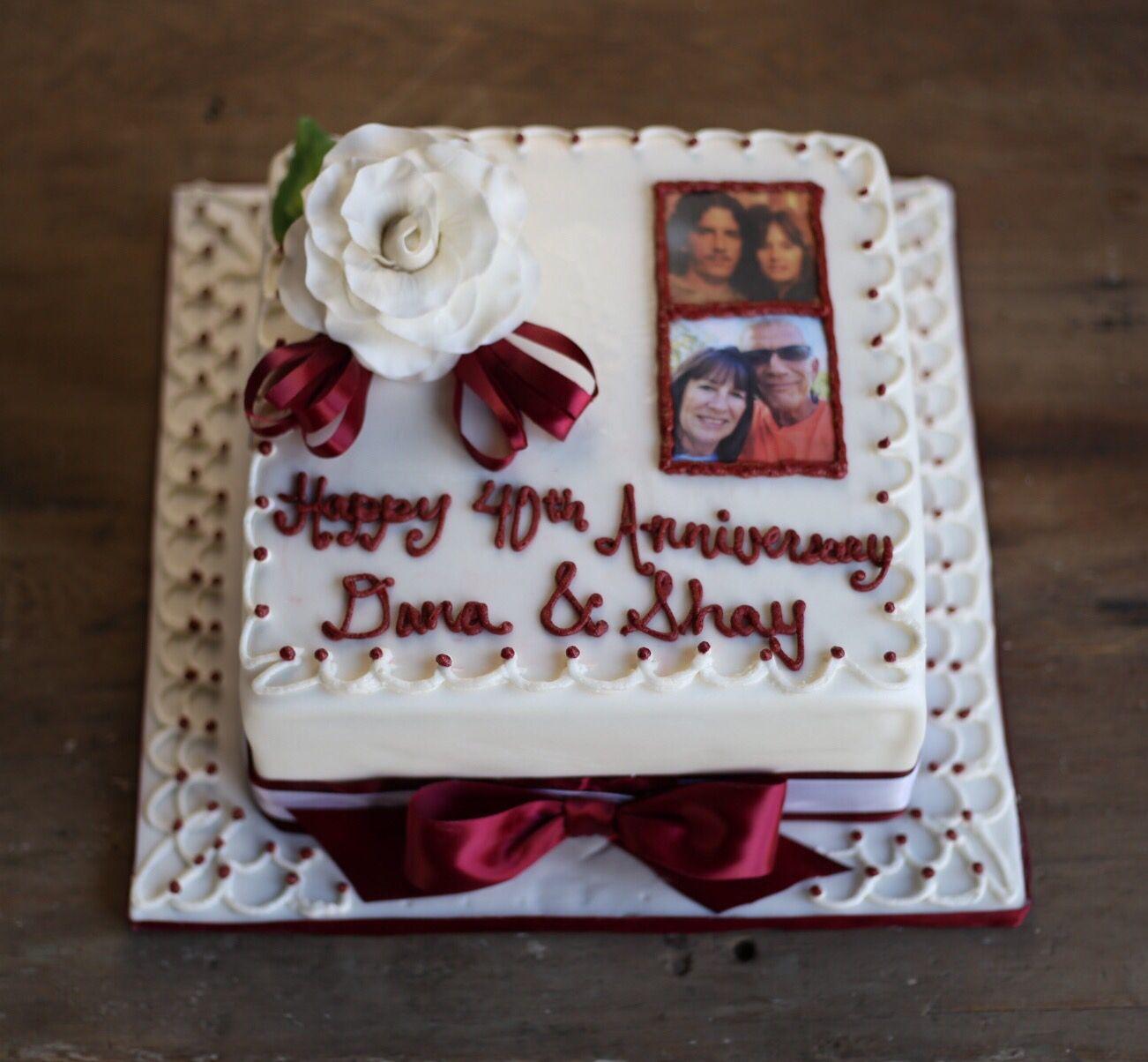 Decoration ideas for 40th wedding anniversary  th anniversary cake  Celebration Cakes  Pinterest  th