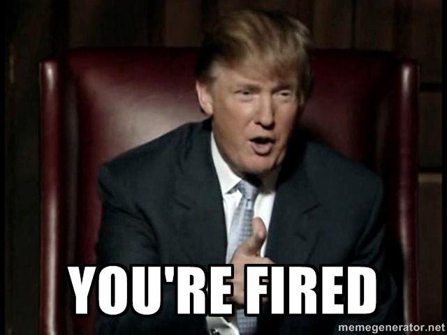 Trump you're fired meme