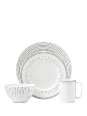 charlotte street east char grey east 4 piece place setting | Kate Spade New York