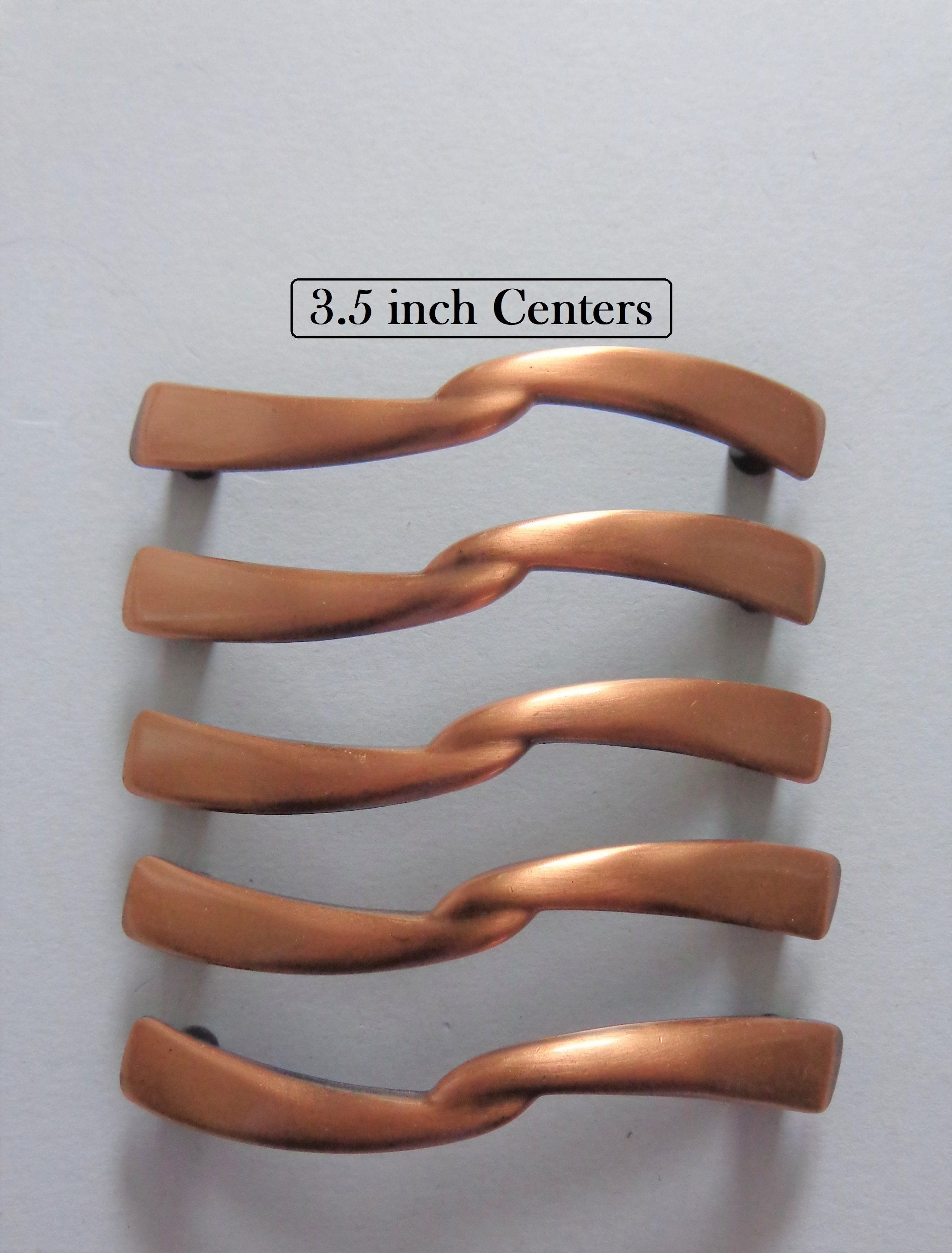 Antique Copper Pulls 3 5 In Centers Cabinet Dresser Drawer