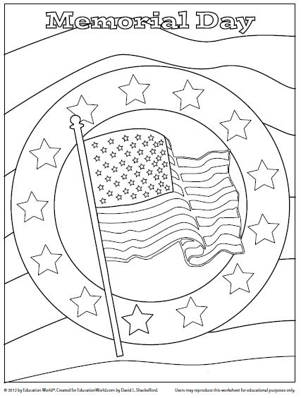 memorial day coloring page | ***Literacy Stations and Daily 5 ...