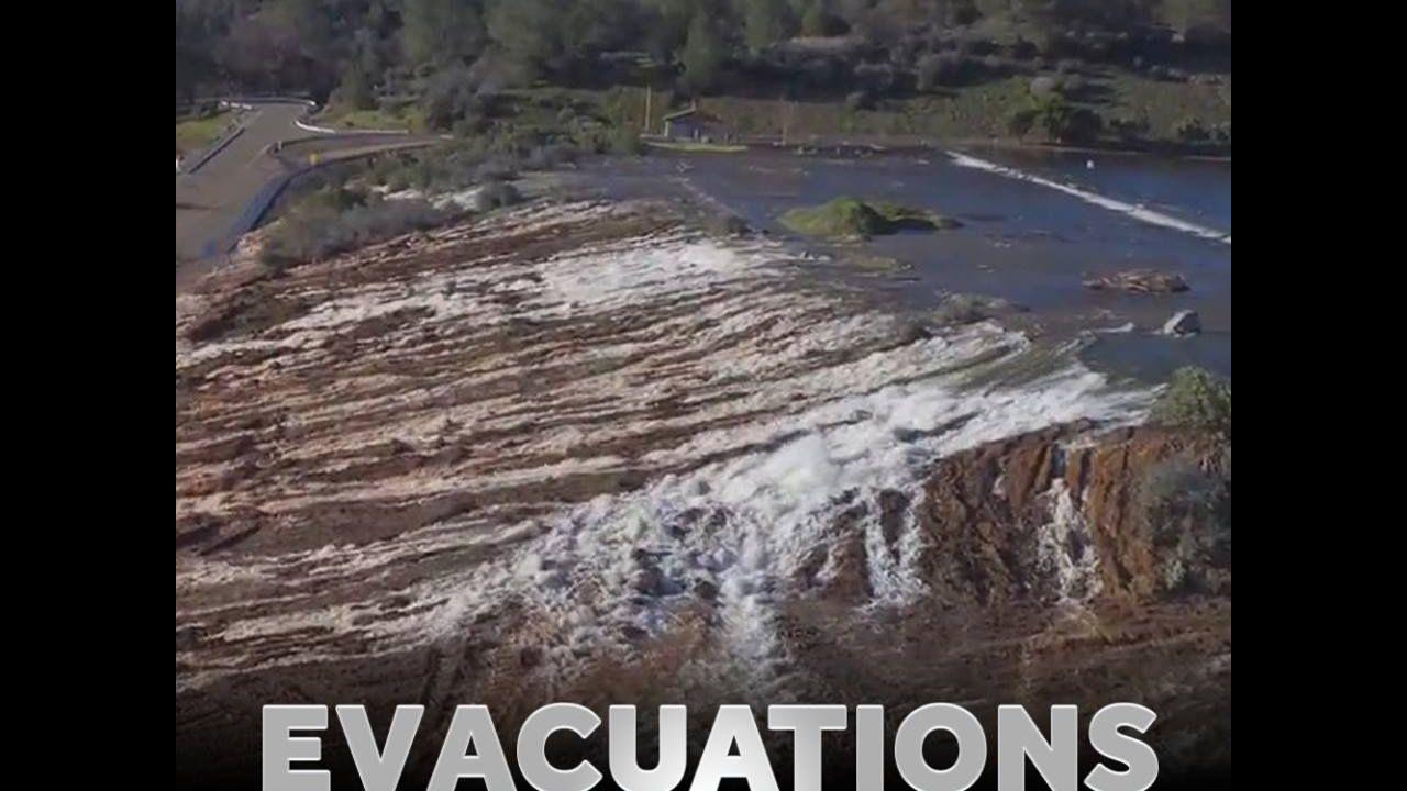 Shocking Footage! (February 12-13-14) Lake Oroville Dam Spillway