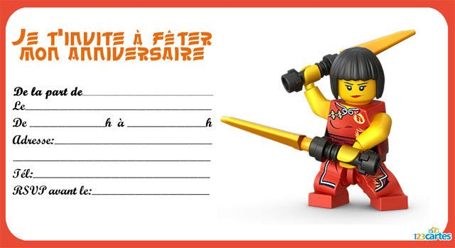 Lego Ninjago 6 Laolou Pinterest Anniversaires Anniversaire