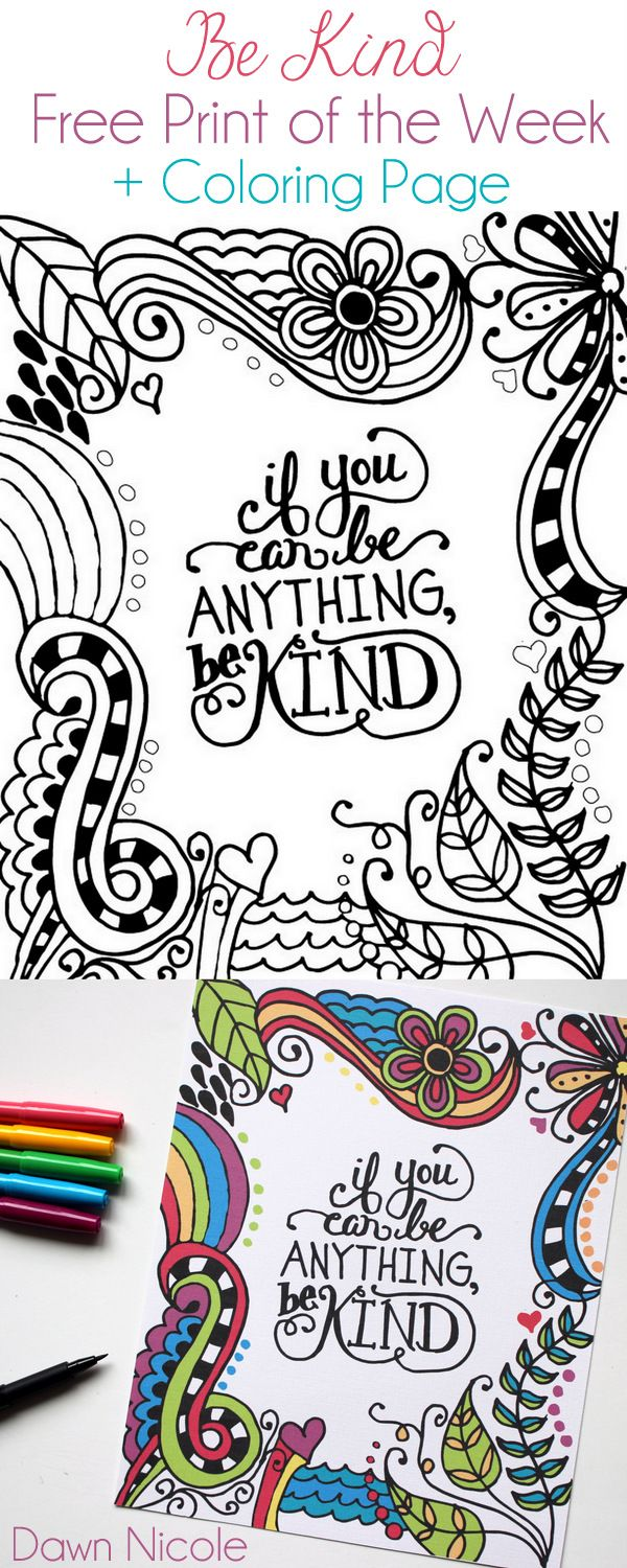 If You Can Be Anything Be Kind | Colorear, Dibujo y Mandalas