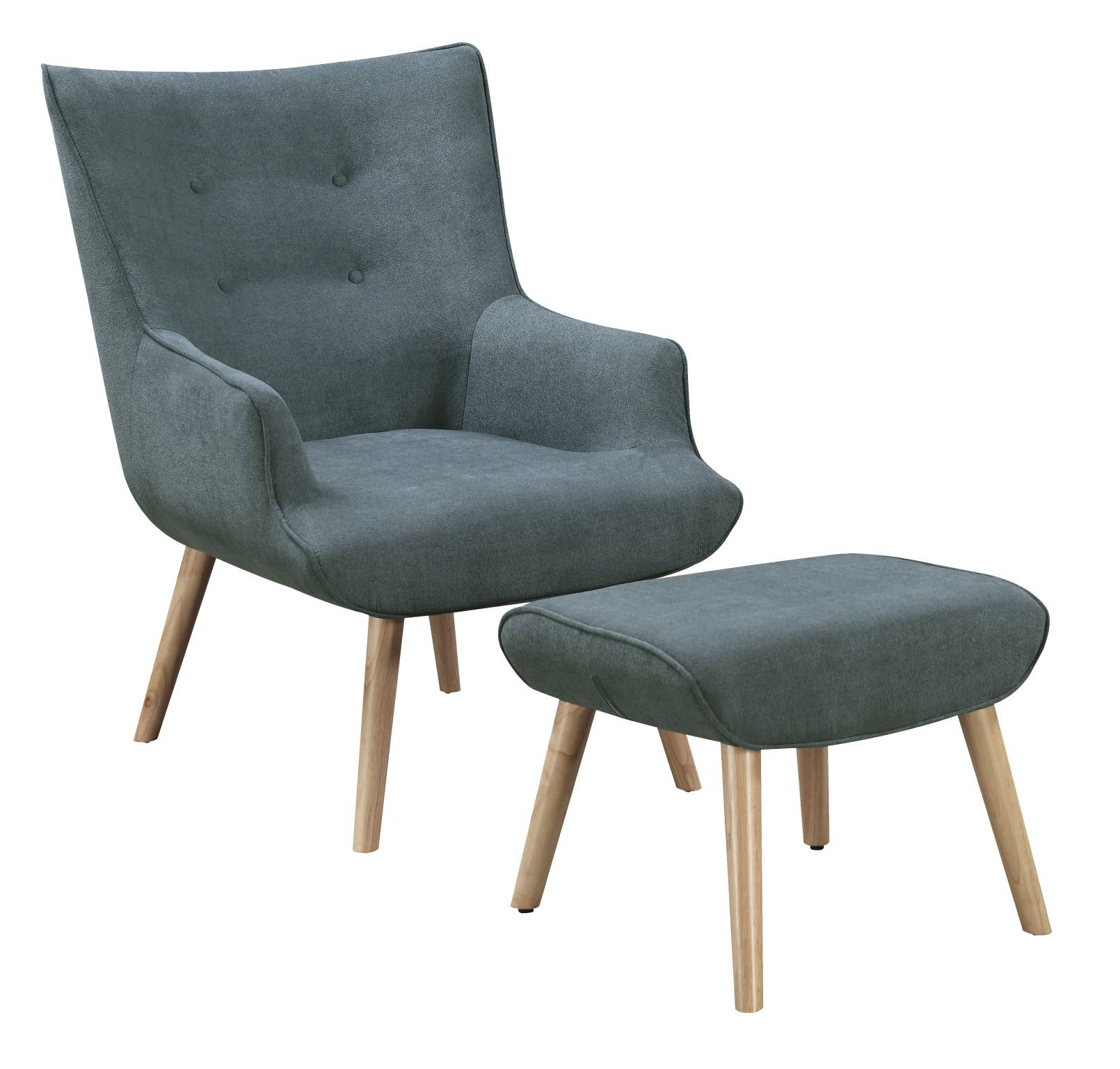 Cosmic Denim Miles Armchair & Ottoman Set by Milan Direct. Get it ...
