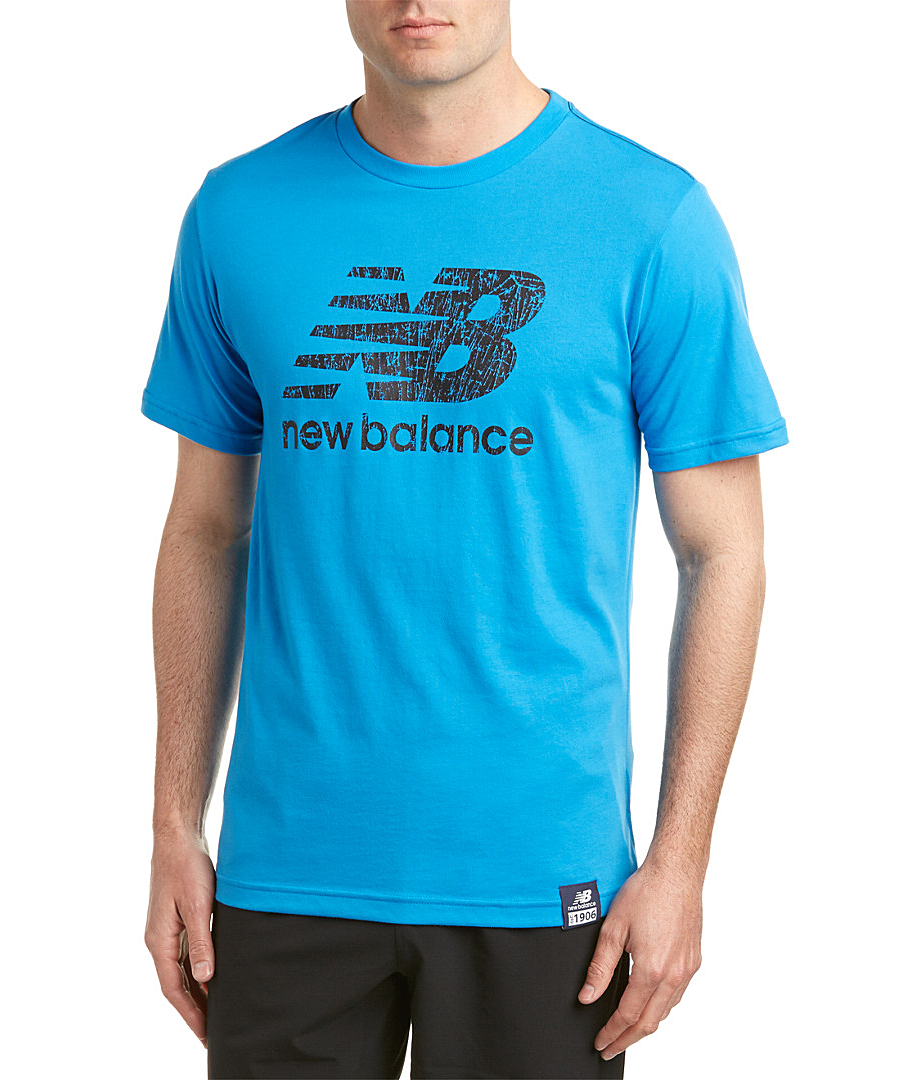 NEW BALANCE NEW BALANCE ESSENTIAL SHORT SLEEVE LOGO T-SHIRT\u0027. #newbalance #