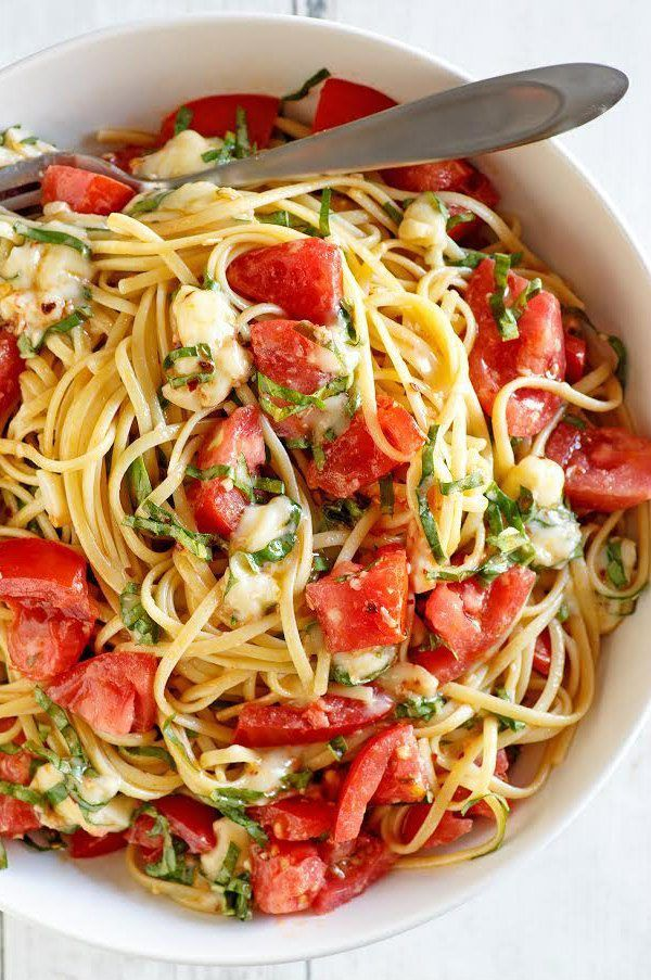 Linguine with Tomato Basil and Brie Recipe by  …