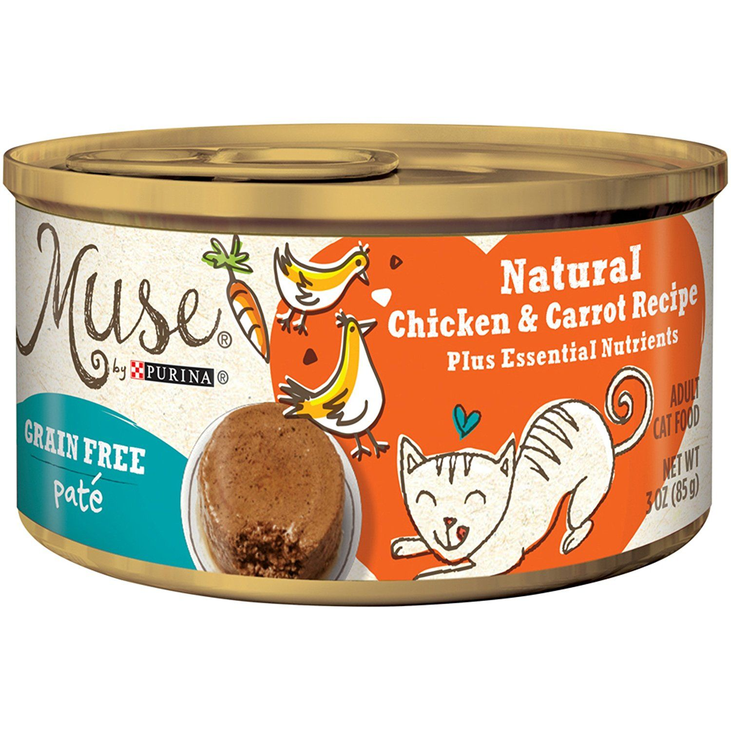 Muse by Purina Natural Grain Free Pate Wet Cat Food Pate