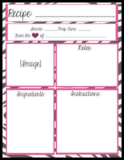 Mesa S Place Full Page Recipe Templates Free Printables Recipe Templates Free Recipe Book Templates Printable Recipe Cards