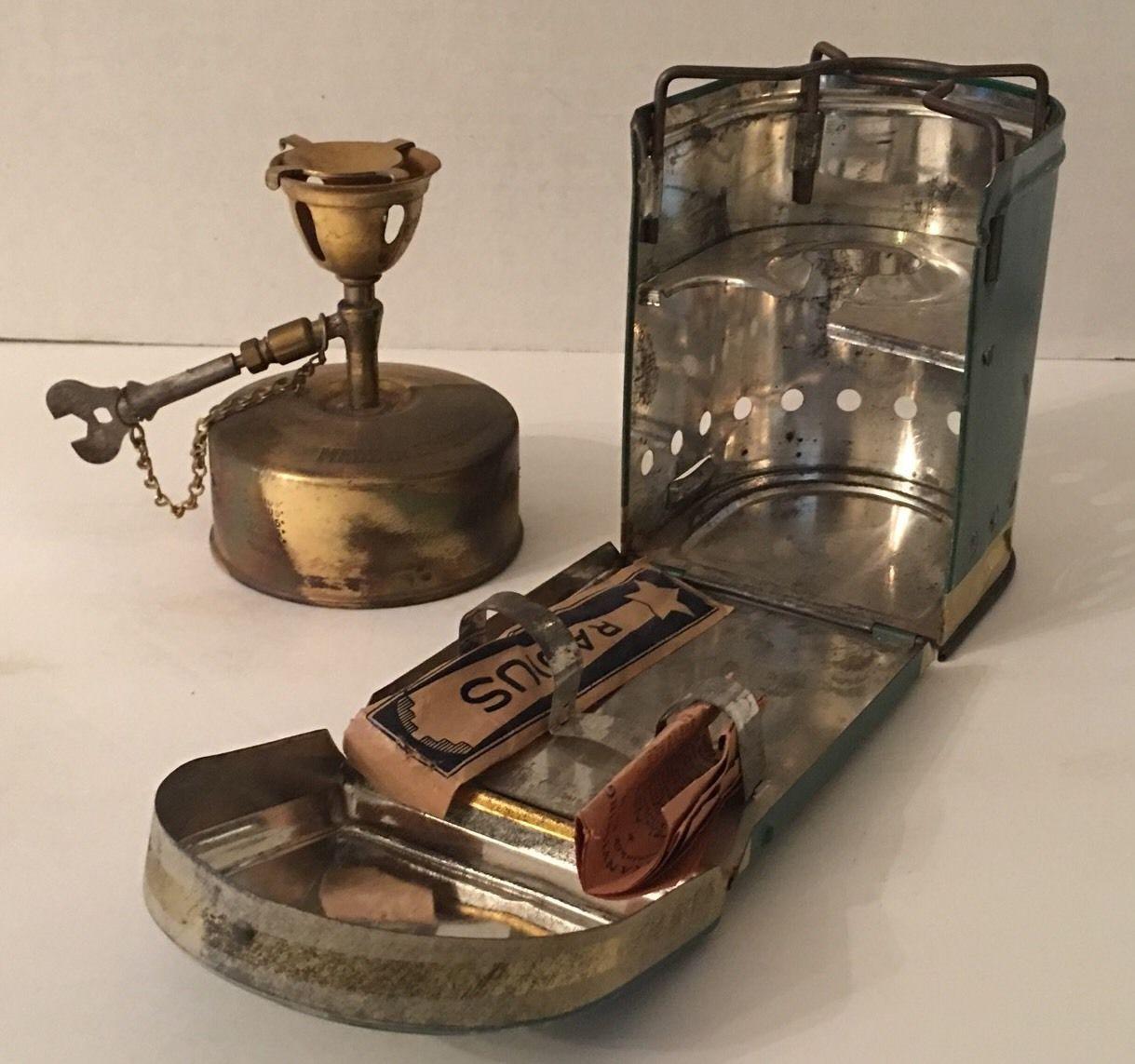 Rare Vintage A B RADIUS #42 Brass KEROSENE PARAFFIN CAMPING STOVE ... for Kerosene Camp Stove  156eri
