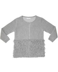 Y7: TWISTED FRILL SWEATER JACKET
