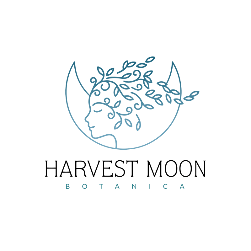 Harvest Moon Ooak Logo Coral Antler Creative Moon Logo Graphic Design Print Logo Design
