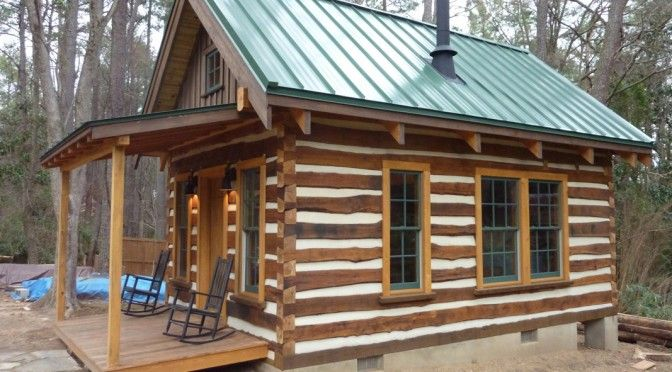 Building A Cozy Cabin Under 4 000 Small Cabin Plans Small Log Cabin Tiny House Cabin