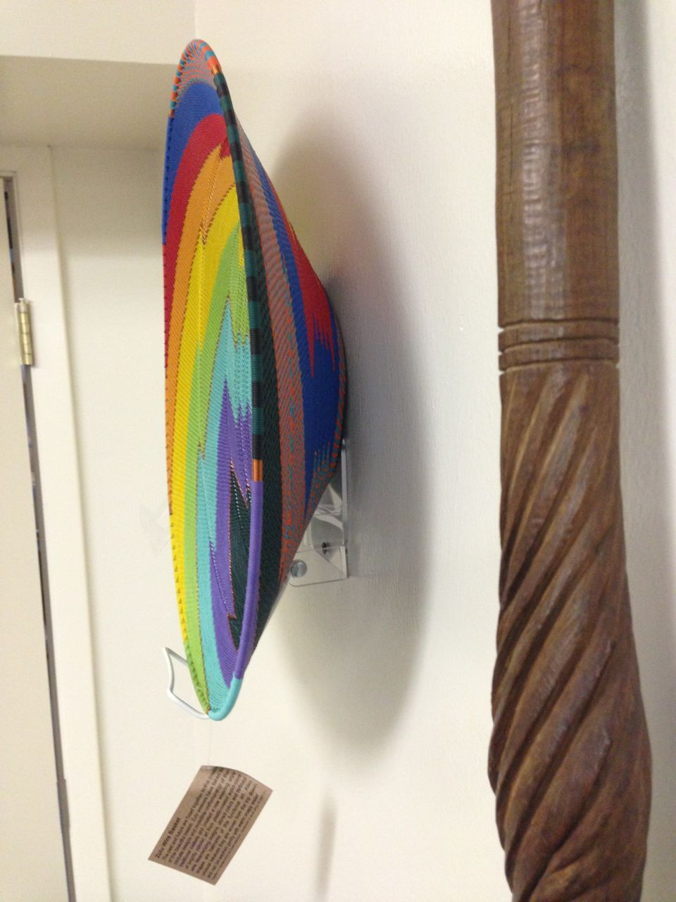 Our Wall Mount Stand displaying a beautiful handmade African plate. Just nail the stand into & Our Wall Mount Stand displaying a beautiful handmade African plate ...