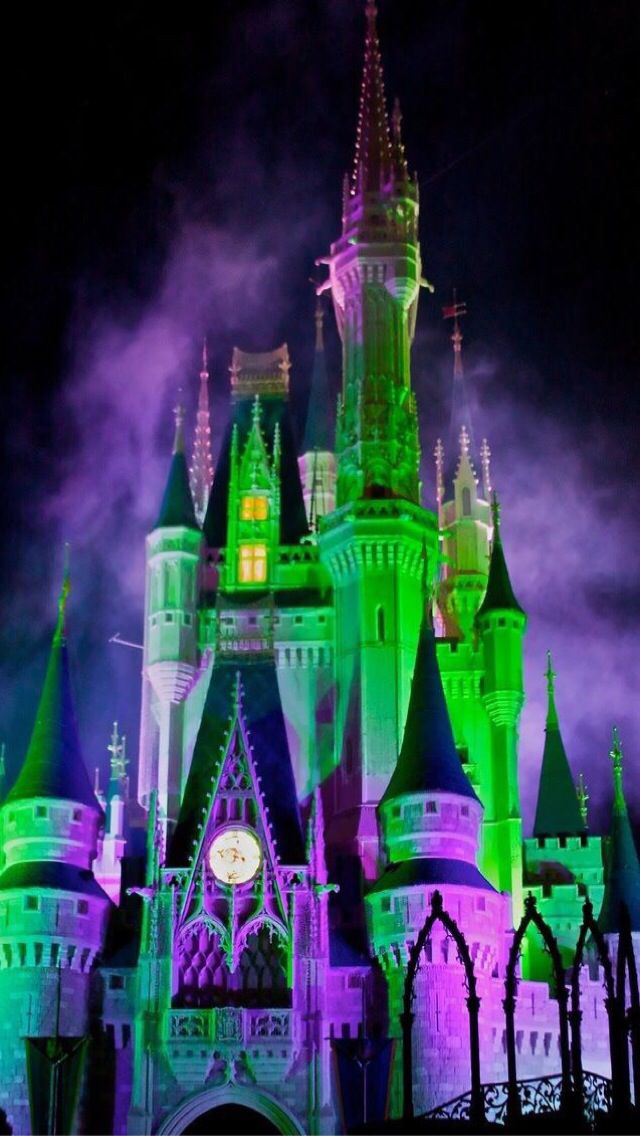 mickeys not so scary halloween party wdw castle cell phone wallpaper - Halloween Party Wallpaper