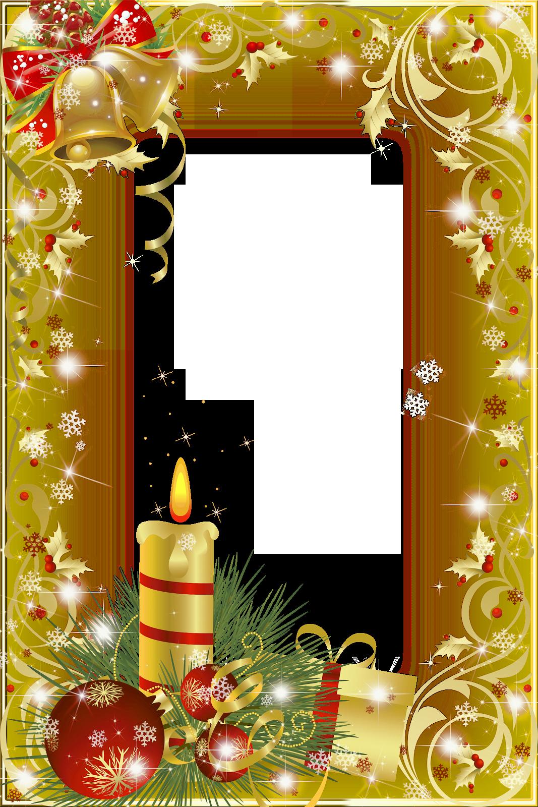 Новогодние и зимние рамки Рождественское художественное