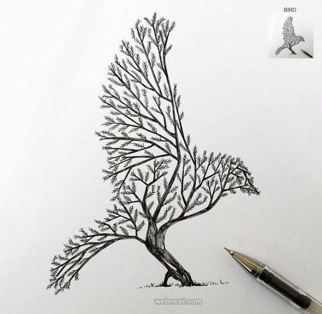 Tree Drawings 30 beautiful tree drawings and creative art ideas from top artists